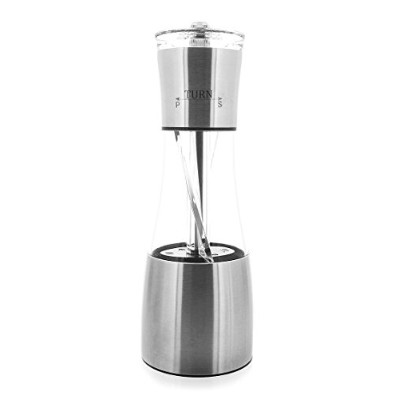 Pepper Mill and Salt Grinder - Stainless Steel and Ceramic Core Grinder for Pepper, Salt, Gourmet...