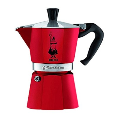 (3-Cup, Passion Red) - Bialetti 4942 Moka Express Espresso Maker, Red