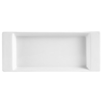 (22cm by 8.9cm ) - CAC China F-2S Fortune 22cm by 8.9cm Super White Porcelain Rectangular Tray, Box...