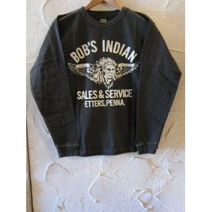 INDIAN MOTORCYCLE インディアンモーターサイクル/BOB'S INDIAN L/S T BLACK