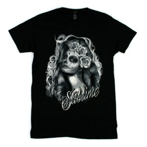 ◎SUBLIME Tシャツ SUGAR SKULL PRINCESS 黒 (サブライム)
