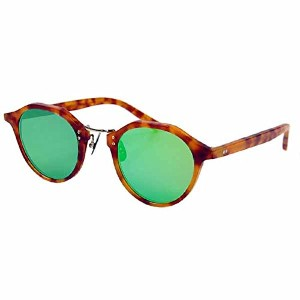 A.D.S.R. エーディーエスアール SATCHMO 04 HAVANA ORANGE & GOLD METAL / GREEN MIRROR