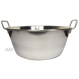 Cazo Stainless Steel Large 16 Heavy Duty Caso Para Carnitas Acero Inoxidable- Flat Surface by M.D.S...