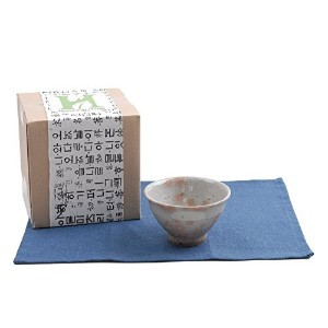 Nature in Hand手作りCeladon Tea Ceremony抹茶茶碗ボウルギフトセット自然リネンplacemats-buncheong Momijiデザイン