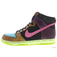 """【US12】NIKE DUNK HI NL """"UNDEFEATED"""" 312205-461 blue reef/cotton candy-black ダンク 未使用品【中古】"""