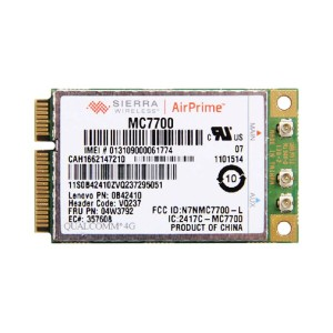 Lenovo純正 Sierra Wireless MC7700 LTE 4G 3G ワイヤレスWAN WWANカード 04W3792 for Thinkpad X230 T430 T430s