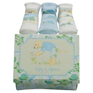 Kelly B. Rightsell Pickles Designs Sock, Set of 3, Skipper Puppy by Kelly B. Rightsell