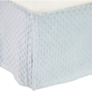 American Baby Company Heavenly Soft Minky Dot Tailored Crib Skirt, Blue by American Baby Company