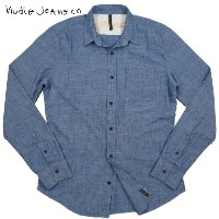 【SALE】30%OFF★Nudie Jeans co(ヌーディージーンズ) FITTED SHIRT ORGANIC CHAMBRAY (オーガニックコットン、シャンブレーシャツ) 【YDKG...
