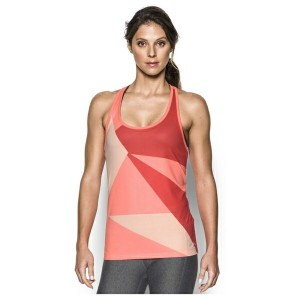 アンダーアーマー レディース カットソー トップス Women's Under Armour Geo Run Tank London Orange/White/Reflective