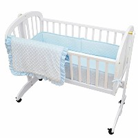 American Baby Company Heavenly Soft Minky Dot 3-Piece Cradle Bedding Set, Blue by American Baby...