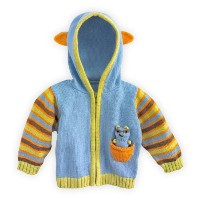 Joobles Organic Baby Cardigan Sweater - Racky the Raccoon (12-18 Months) by Joobles