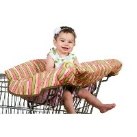 Pam Grace Creations Funky Stripe Grocery Cart Cover, Green, Pink, Peach by Pam Grace Creations