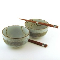 Japanese Spring Blossomボウルと箸セット箸のセットIncludes 2 Bowls、2