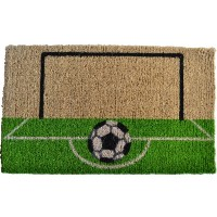 Imports Decor Printed Coir Doormat, Soccer Field, 18-Inch by 30-Inch 玄関 マット