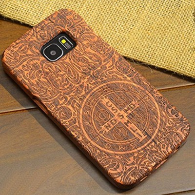 Galaxy Note9 Case, Handmade Rosewood Wooden Sculture Texture Cover, TAITOU Ultra Slim Thin Combined...