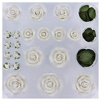 Exquisite Rose & Leaf Tray White, Unwired by Chef Alan Tetreault by ALAN TETREAULT SELECT PRODUCTS