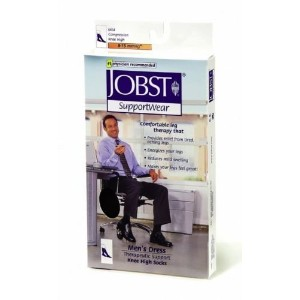 Jobst Mens Dress Socks Knee High 8-15 Compression, Black, X-Large by Jobst