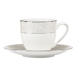 LenoxLarkspur Demitasse Cup and Saucer Set, White by Lenox