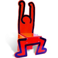 Vilac Keith Haring Chair Red ヴィラック キース・ヘリング レッド チェア 子供用イス