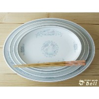【OUTLET品込】強化磁器 鳳凰 10吋プラター 中華食器/皿/プレート/盛り皿/餃子皿/冷やし中華皿 業務用食器