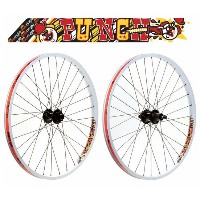 SUN ringle PUNCH DJ 26inch ETRTO:559 Front+Rear Wheel set Color: White ( MTB用 フロント+リア 完組ホイールセット )...