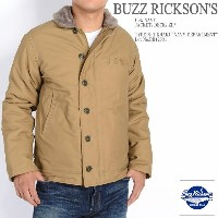 "BUZZ RICKSON'S バズリクソンズ N-1 デッキジャケット Type N-1 KHAKI ""NAVY DEPARTMENT"" BR12031"