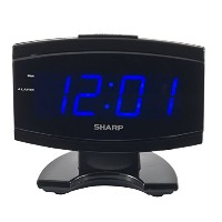 Sharp SPC106X LED Alarm Clock (Black) [並行輸入品]
