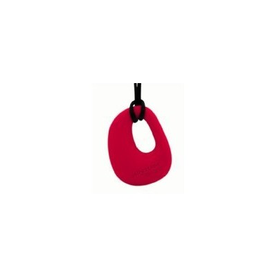 Organic Pendant - Silicone Necklace (Teething/Nursing) (scarlet red) by Jellystone (English Manual)