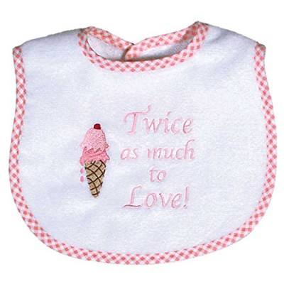 Dee Givens and CoRaindrops 6326 Raindrops 6326 -Twice as much to Love- Small Bib-Pink