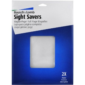 "2X Magna-Page Full-Page Magnifier w/Molded Fresnel Lens, 8-1/4"" x 10-3/4"" (並行輸入品)"
