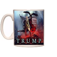 Trump Novelty Mug by omgsofresh 16 oz - Holds 2 cups of coffee ホワイト
