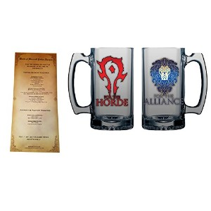 Horde and Alliance World Of Warcraftビールガラスを含まDrinkレシピカード