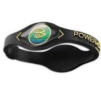 Power Balance Silicone Black with Yellow Lettering - SMALL by Power Balance [並行輸入品]