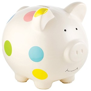Pearhead Ceramic Piggy Bank, White by Pearhead