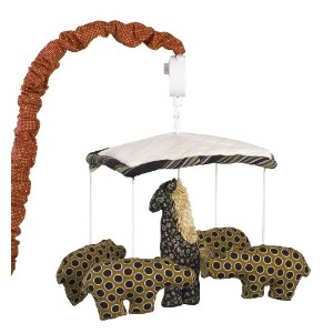 Cotton Tale Designs Animal Stackers Mobile, Red/Black/Tan by Cotton Tale Designs