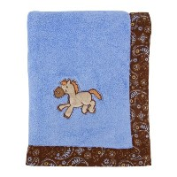 Trend Lab Cowboy Baby Framed Receiving Blanket, Blue by Trend Lab [並行輸入品]