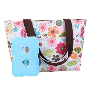 Dimayar 12.59x4.72x11.41Water-Resistant Picnic Insulated Lunch Bag Cooler Lunch Bag Travel Zipper...
