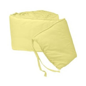 Tailored Baby Crib Bumpers - Color Yellow by BabyDoll Bedding