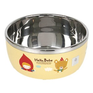 Lock&Lock Hello Bebe Storytelling Educational Design Baby Feeding Stainless Steel Bowl, Small by...