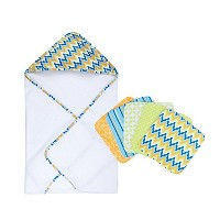 Trend Lab Baby Levi 6 pc. Hooded Towel and Washcloth Set by Trend Lab