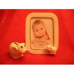 Lenox Baby Elephant 5x7 Frame and Bank Set by Lenox