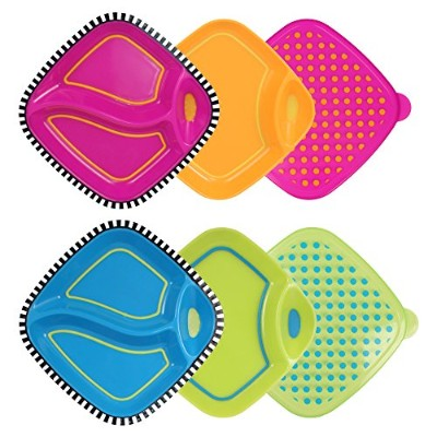 Sassy 6 Piece Dippin' Diner Plate Set by Sassy