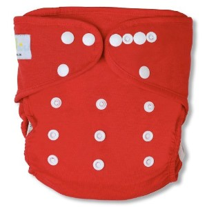 NatureSnug All-in-two Cloth Diaper Cover (Red) by Smart Snugs