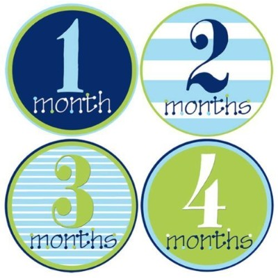 Mumsy Goose Baby Boy Monthly Stickers 1-12 Months by Mumsy Goose