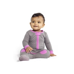 Baby Deedee Sleepsie Footie Pajamas, Slate/Hot Pink, 6-12 months by baby deedee