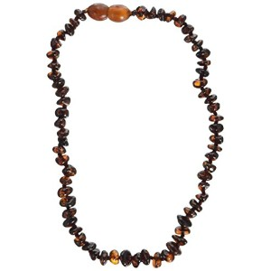 Momma Goose Chip Teething Necklace, Cognac, Small/11-11.5 by Momma Goose