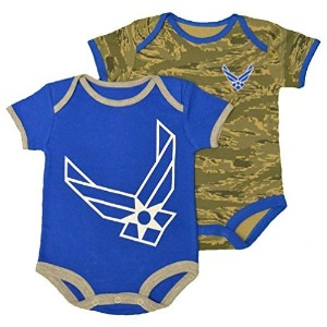 Infant / Baby Air Force ABU Camo Bodysuits 2pk Blue (3-6 MONTHS) by TC
