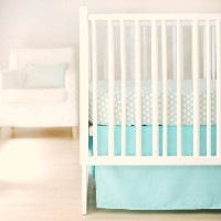 New Arrivals Sweet and Simple Crib Bedding Set, Aqua, 2 Piece by New Arrivals