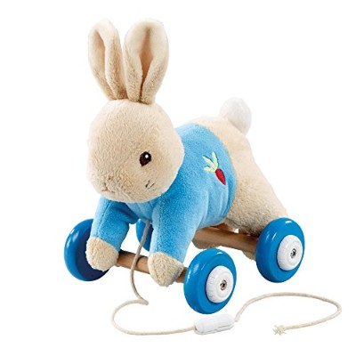 New for 2014 Peter Rabbit Plush Wooden Pull Along
